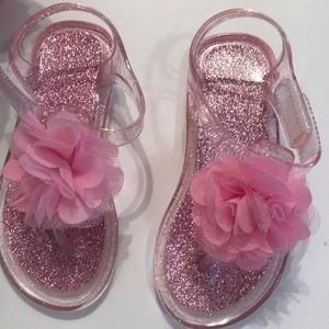 stepping Stones Shoes - Stepping Stones blue and pink jelly shoes